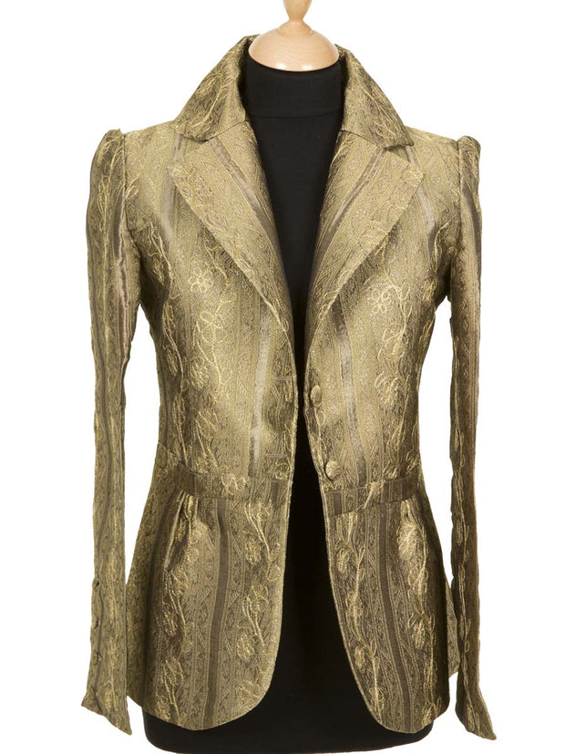 Lotus Jacket in Antique Gold