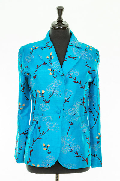 Lotus Jacket in Brilliant Turquoise