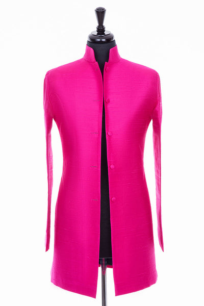 Long Nehru Jacket in Hot Pink