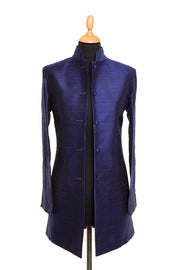 Long Nehru Jacket in Midnight Blue