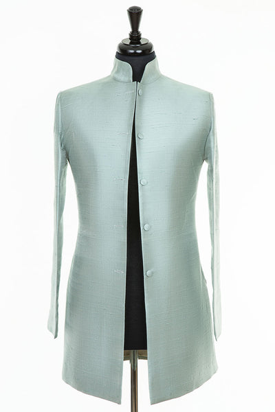 Long Nehru Jacket in Moon Dust
