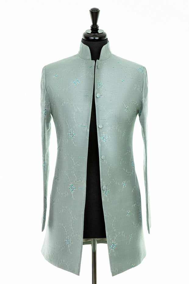 Long Nehru Jacket in Moon