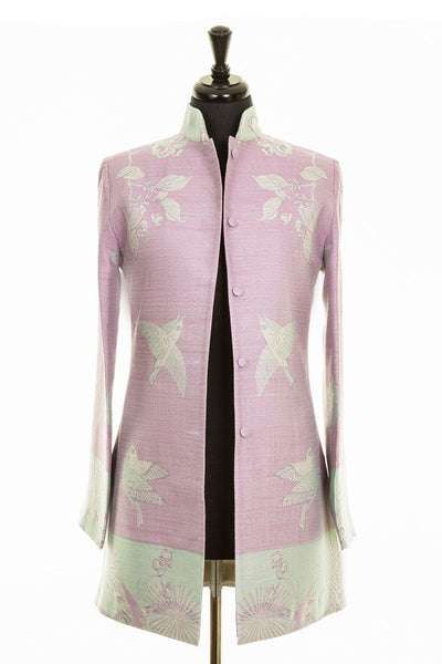 Long Nehru Jacket in Lilac