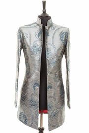 Long Nehru Jacket in Mercury