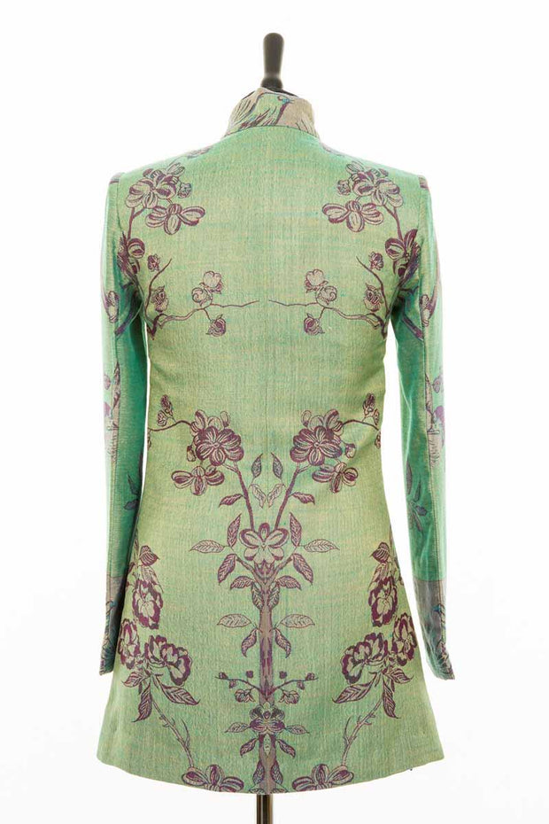 Long Nehru Jacket in Dragonfly Green