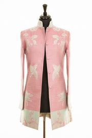 Long Nehru Jacket in Rococo Pink