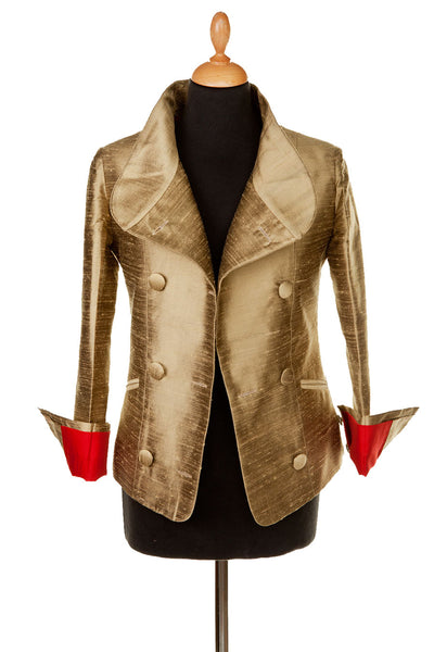 Delphine Jacket in Oyster Gold