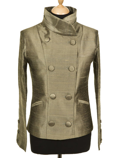 Delphine Jacket in Moss Pewter