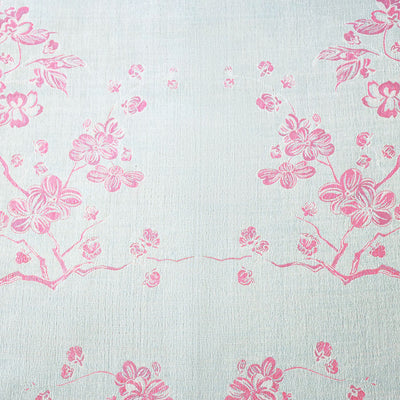 pale blue and pink floral cashmere fabric