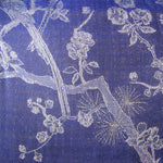 Fabric for Reversible Dressing Gown in Electric Navy