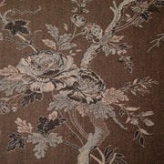 brown floral cashmere fabric