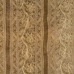 dark gold embroidered silk fabric