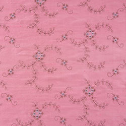 pale pink embroidered silk fabric