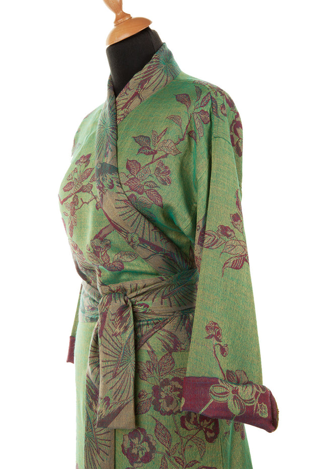 Dress Style Kimono in Dragonfly Green