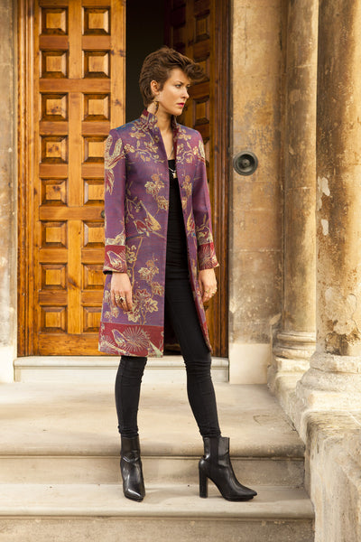 Nehru Coat in Imperial Blue