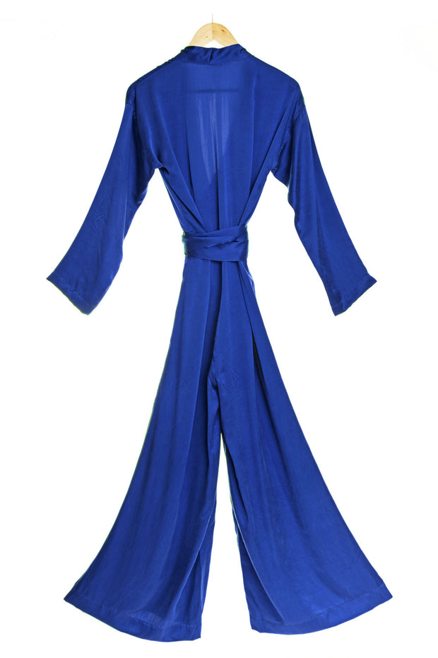 Silk Jumpsuit in Cobalt