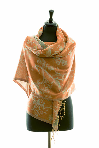 Shawl in Apricot Moon