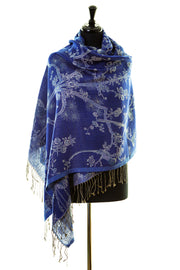 Shawl in Electric Navy