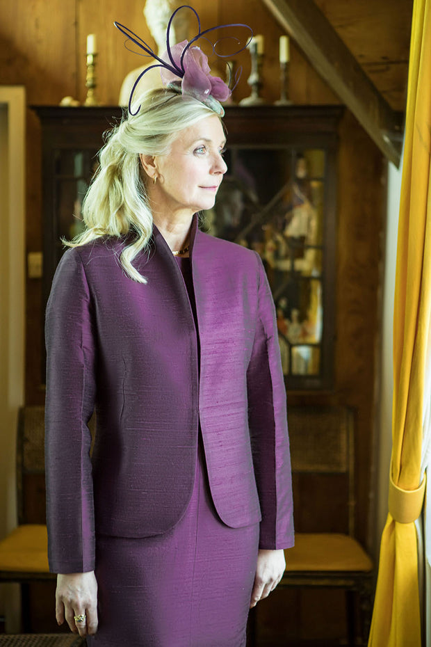 Anya Jacket in Aubergine
