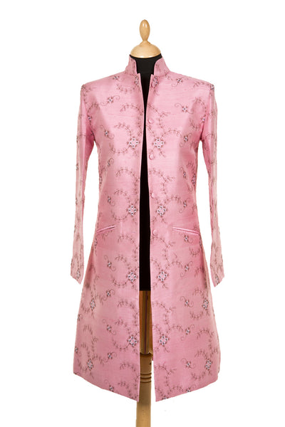 Nehru Coat in Vintage Rose