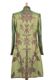 Nehru Coat in Dragonfly Green