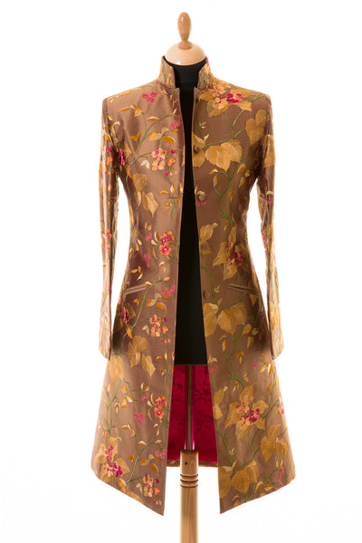 Nehru Coat in Burnt Umber
