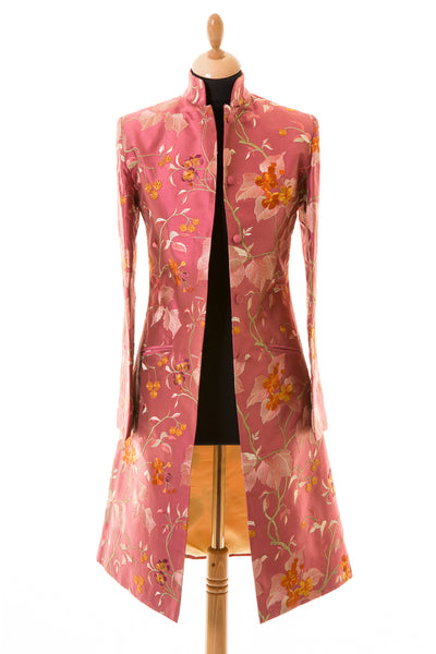 Nehru Coat in Pink Shalimar