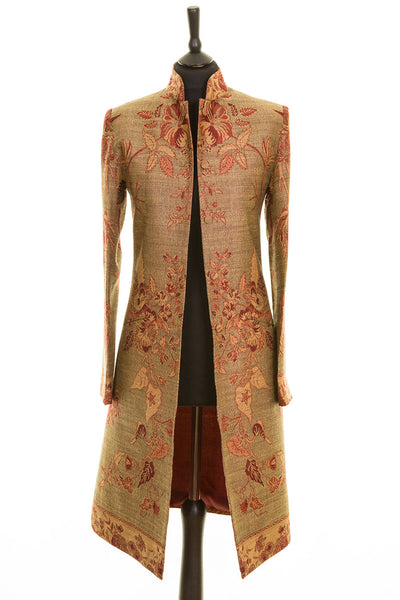 Nehru Coat in Bracken Green