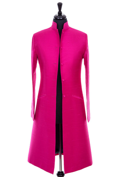 Nehru Coat in Hot Pink