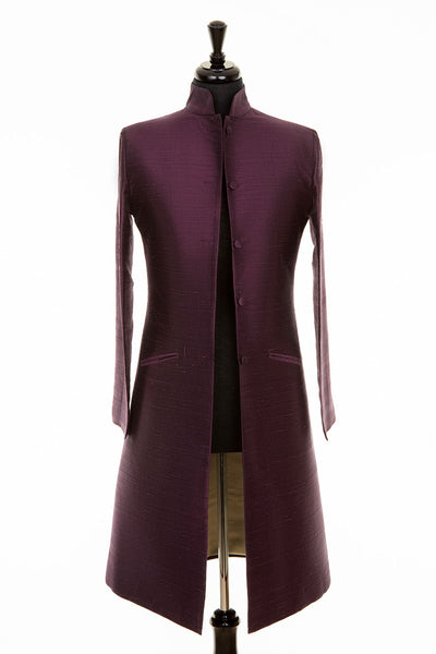Nehru Coat in Aubergine