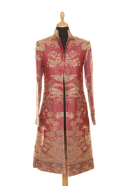 Nehru Coat in Moss Rose