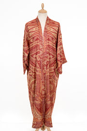 Mens Reversible Gown in Red Etron