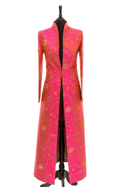 Devi Coat in Schiaparelli Pink