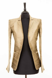 Nina Blazer in Oyster Gold