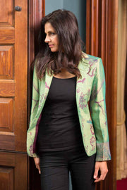 Nina Blazer in Dragonfly Green