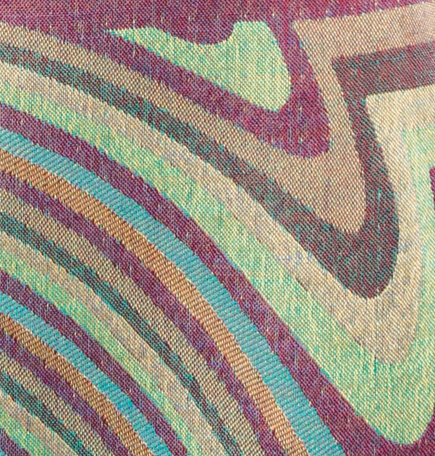 green and purple striped cashmere fabric