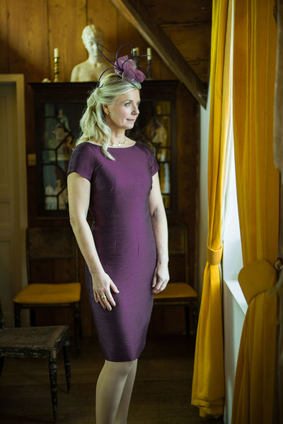 Hepburn Dress in Aubergine