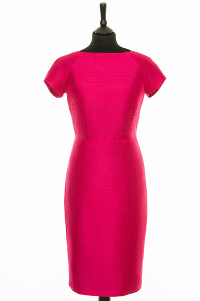 Hepburn Dress in Hot Pink