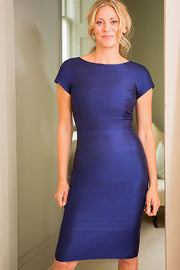 Hepburn Dress in Midnight Blue
