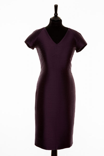 Marilyn Dress in Aubergine