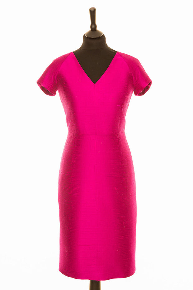 Marilyn Dress in Hot Pink