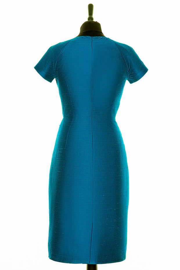 Marilyn Dress in Kingfisher Blue