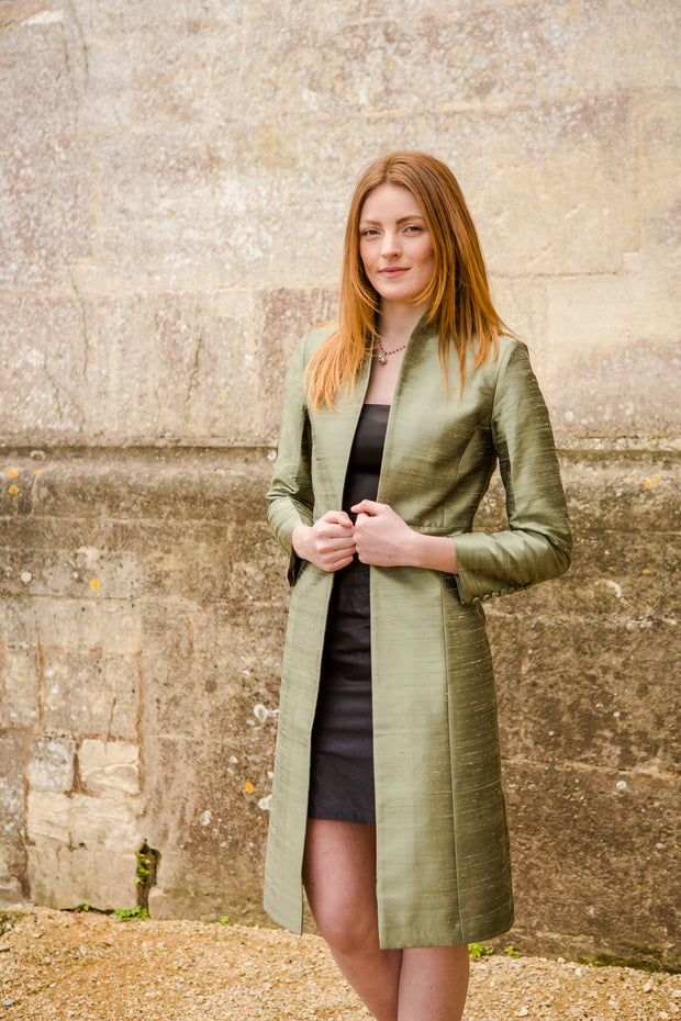 Avani Coat in Moss Pewter