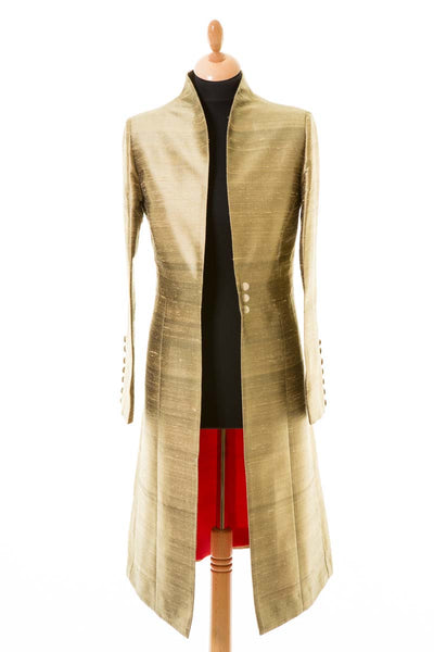 Avani Coat in Oyster Gold