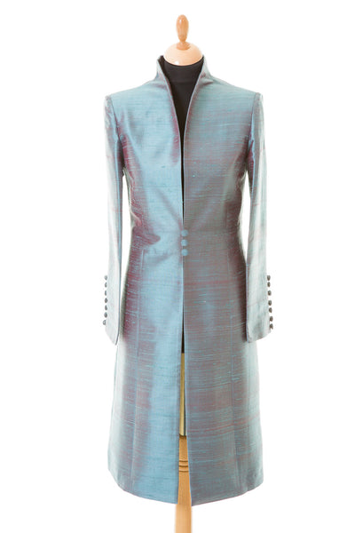 Avani Coat in Smokey Blue