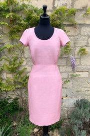 ladies-smart-pale-pink-raw-silk-fitted-shift-dress-scoop-neck-mother-of-the-bride-outfit-summer-wedding
