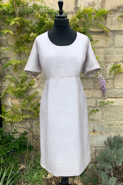 ladies-pale-grey-raw-silk-fitted-shift-dress-plus-size-sample-sale-mother-of-the-bride-dress