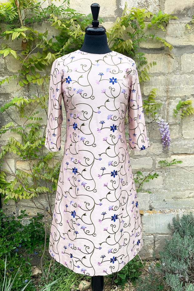 womens-pale-pink-embroidered-silk-aline-shift-dress-mother-of-the-bride-dress-sample-sale-ascot-opera-floral-dress