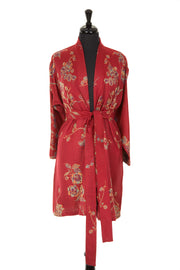 Reversible Kimono Jacket in Venetian Red