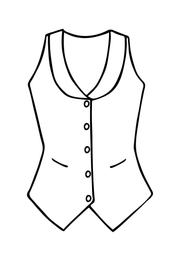 Scoop Neck Waistcoat in Royal Jacquard